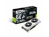 ASUS GTX 1060 DUAL OC 6GB GFX CARD - 220 - SELLING TO UPGRADE - 2 MONTHS OLD