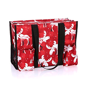 Zip top orgnanizing utility tote