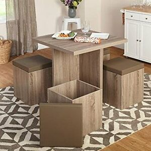 Dining Set with Storage Ottoman