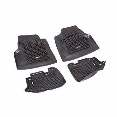 Black Rugged Ridge - Rugged Ridge Floor Mats Front Black for Jeep Wrangler TJ 1997-2006 12987.10