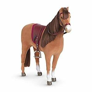 American girl chestnut horse (retired) with stable