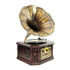 Pyle PVNP4CD Vintage Phonograph Horn Turntable - BRAND NEW