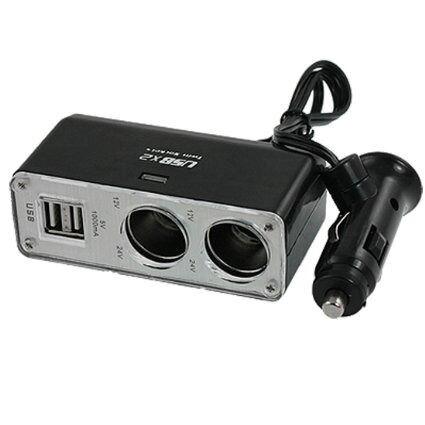 USB x2 Twin Socket USB Car Charger Adapter
