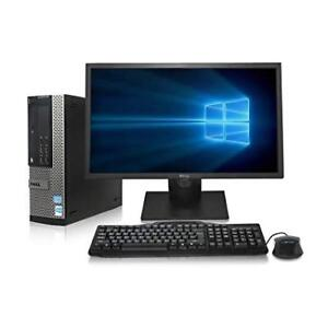 "Dell Optiplex SFF Core i5 4GB RAM 500GB HD w/19"" DELL LCD"