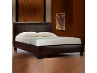 leather double bed frame DELIVERED