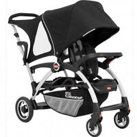 JOOVY ERGO Caboose Sit and Stand Double Stroller with Adapter