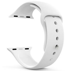 Original Apple Watch Band White Silicone Sport 42mm 44mm New
