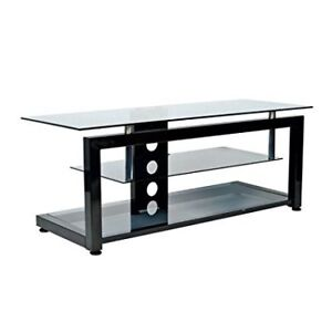 Init TV Stand for TVs Up To 55,Thick Glass and All Metal