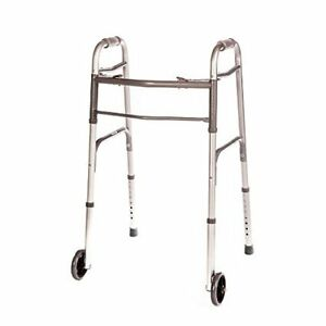 Folding Walker Deluxe with Front Wheels