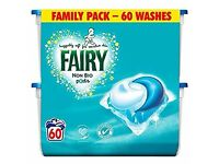 5 FULL packs of Fairy Laundry Soap 1 Partial Pack