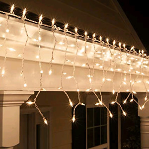 White icicle lights for wedding decor
