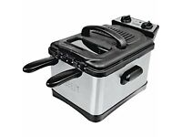 Cookworks Twin Deep Fat Fryer - Stainless Steel