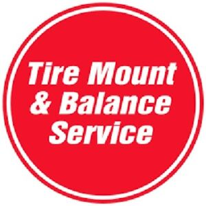 Tire mounting, balancing and minor repairs