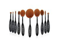 10pc Oval Soft Makeup Brush Set Toothbrush Foundation new