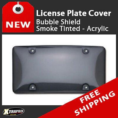 Bubble Shield License Plate Cover - Smoke Tinted - Acrylic Cruiser Acrylic License Plate Bubble