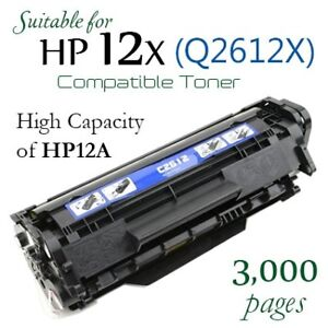 H P Q2612X High Yield Compatible New Laser Toner (H P 12X)