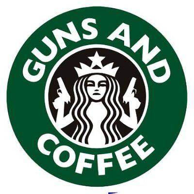 Aufkleber / Autoaufkleber Guns and Coffee - JDM / Die cut Auto Laptop US4995D
