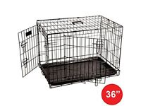 large dog cage 36indh long all folds down flat collect from dagenham essex