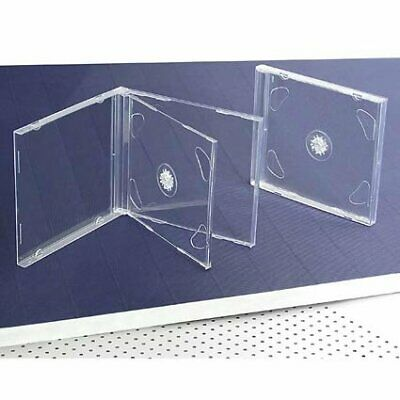 10 STANDARD Clear Double CD Jewel Case Clear Cd Jewel Cases