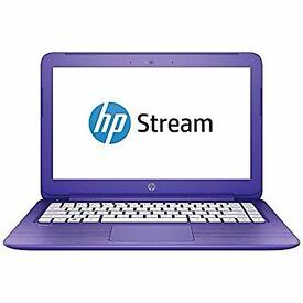 FOR SALE - HP Stream 13-c101na Intel Celeron 2GB RAM 32GB Storage 13.3 Laptop - Purple