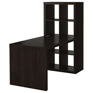 Ikea Expedit Desk and Bookcase Cube WITH INSERTS black brown