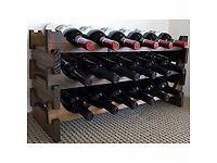 Classic Wooden Wine Rack 18 Bottles - Dark Stain Wood