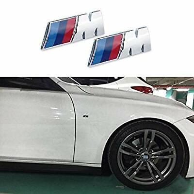 2x Chrome M Series Fender Emblem Badge Car Decoration Refit ABS Mini 881 Sport