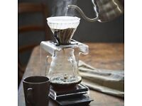 V60 and glass serving