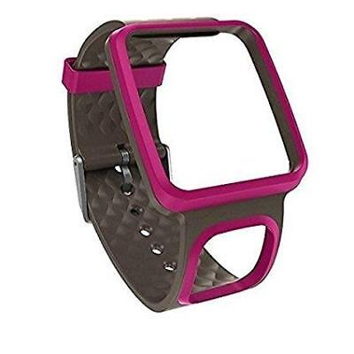 TomTom Comfort Strap Slim Runner GPS Watch Band Heart Rate Pink Gray FAST! AE2