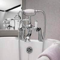 Bloomsbury Faucet Lever Deck Mounted Tub Shower Mixer with Showe