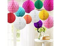 36 Paper Lanterns plus 50 Balloons £15 the Lot Multi Coloured Various Shapes