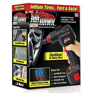 Air Hawk Pro Automatic Cordless Tire Inflator Portable Air Compr