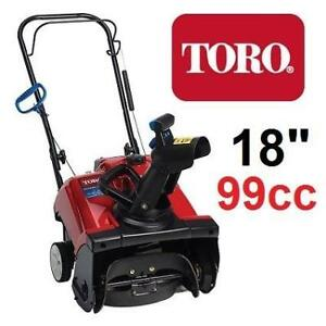 "NEW TORO GAS SNOW BLOWER 18"" 38473 214099773 THROWER 99CC 1 STAGE ELECTRIC START Power Clear 518 ZE SNOWBLOWER"