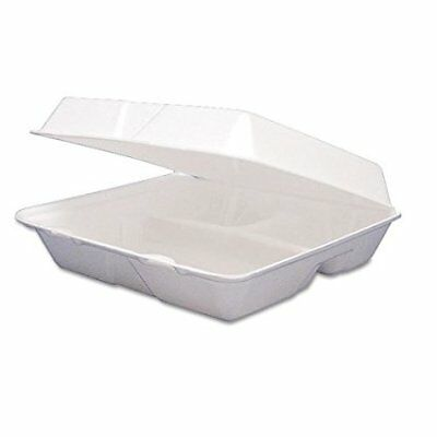 Dart 85HT3R, 8x8x3-Inch 3-Compartment Foam Containers With Hinged Lid, 50 ()