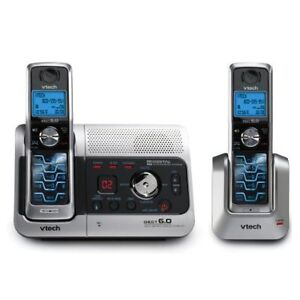 VTech 6042 DECT 6.0 Two-Handset Cordless Phone System with Digit