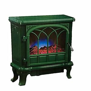 Duraflame Electric Stove with Heater, Green and Black