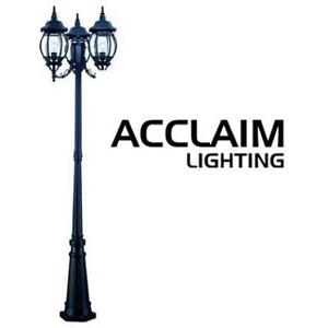 NEW ACCLAIM 3-HEAD POST LIGHT 5179BK 201690164 CHATEAU COLLECTION OUTDOOR SURFACE MOUNT BLACK