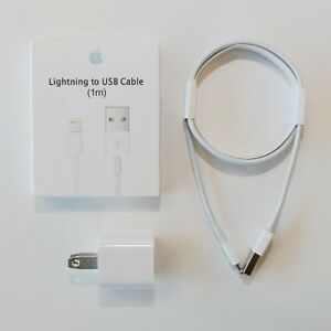 ORIGINAL APPLE USB LIGHTNING CABLE AND WALL ADAPTER- $40