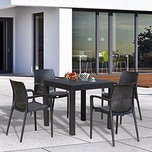 5pc All Weather Resin Patio Dining Set Outdoor Chair Table Furniture / Patio Garden Dinning Furniture