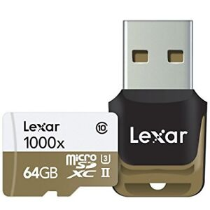 Lexar 64GB MICRO SDXC GB 1000x with adapter USB 3.0 - BRAND NEW