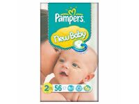 Brand New! Unopened- Pampers New Baby Size 2 56 Pack Nappies