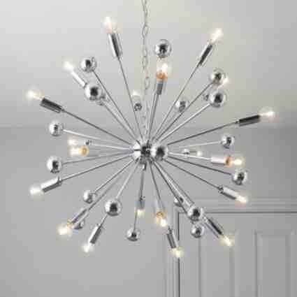 B And Q Lighting Ceiling: Brand New B&Q Komet Light,Sphere,(chrome) Sputnik,Chandelier,Globe,Lighting