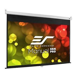 "Manual SRM Pro Series White Manual Projection Screen 113"" diagon"