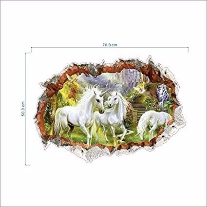 Unicorn in Dreamland Forest 3d Poster