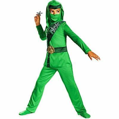 New Shadow Ninjas Night Fury Green Master Ninja Child Costume Medium 7-8 - Night Fury Costume