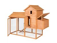 Chicken/Hen/Rabbit/Guinea Pig house Large Luxury With Ramp Brand New Boxed Quick Sale £110