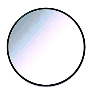 """Umbra Hub 24"""" Round Wall Mirror with Rubber Frame"""