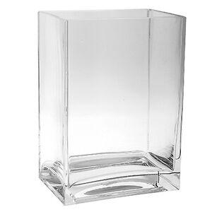 Vase Q-LINE - rechteckig - Windlicht - Glasgefäß - schwere Qualität - Dekoglas