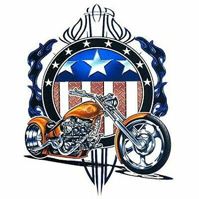 American Chopper sticker (with flag, diamond plate and pinstripe) - LOT OF 6
