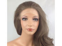 """Stunning wavy 23"""" medium brown lace front wig (NEW)"""